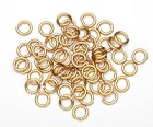 Darice-10mm Aluminum Jump Rings-Gold