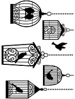 Darice Embossing Folder (Size A2) - Birdcages