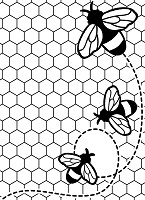 Darice Embossing Folder (Size A2) - Bees Buzzing