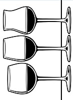 Darice Embossing Folder (Size A2) - Wine Glass