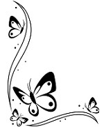 "Darice Embossing Folder - Size 4.25"" x 5.75"" - Butterflies In Corner"