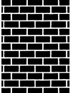 "Darice Embossing Folder - Size 4.25"" x 5.75"" - Brick"