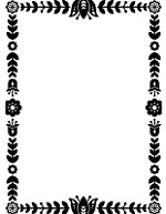 "Darice Embossing Folder - Size 4.25"" x 5.75"" - Floral Border"