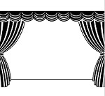 "Darice Embossing Folder - Size 4.25"" x 5.75"" - Stage with Curtains"