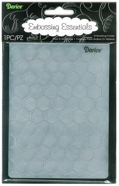 Darice Embossing Folder Size A2 Honeycomb