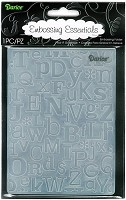 Darice Embossing Folder (Size A2) - ABCs