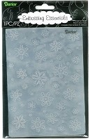 Darice Embossing Folder - Size: 5x7 - Snowflake Background
