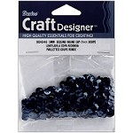 Darice - Sequins - 5mm - Black (approx. 800 pcs)