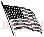 Deep Red Stamps - Cling Stamp - American Flag