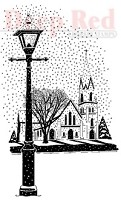 Deep Red Stamps - Cling Stamp - Winter Church