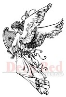 Deep Red Stamps - Cling Stamp - Angel with Harp