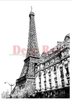 Deep Red Stamps - Cling Stamp - Eiffel Tower View