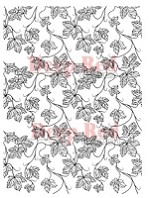 Deep Red Stamps - Cling Stamp - Vines Background