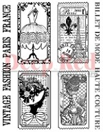 Deep Red Stamps - Cling Stamp - Fashion Tickets