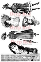 Deep Red Stamps - Cling Stamp - Victorian Ladies