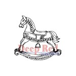 Deep Red Stamps - Cling Stamp - Rocking Horse