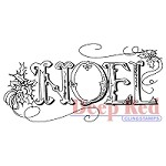 Deep Red Stamps - Cling Stamp - Noel