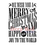 Deep Red Stamps - Cling Stamp - Grungy Christmas Wishes