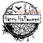 Deep Red Stamps - Cling Stamp - Happy Halloween