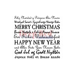 Deep Red Stamps - Cling Stamp - International Holiday Wishes