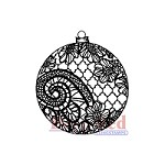 Deep Red Stamps - Cling Stamp - Lace Ornament