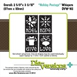 Die-Versions Die - Whispers - Holiday Postage