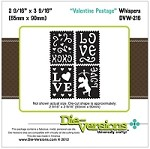 Die-Versions Die - Whispers - Valentine Postage