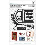 DoCrafts - Xcut Build-A-Scene Die - Shadow Box Christmas Fireplace