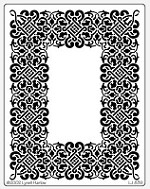 Dreamweaver Jumbo Brass Stencil - Lace Rectangle