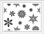 Dreamweaver Jumbo Metal Stencil - Snowflake Background