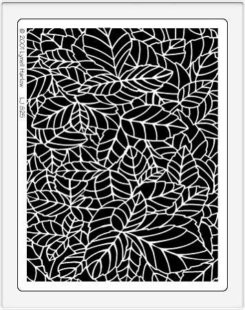Dreamweaver Jumbo Metal Stencil Jungle Leaf Background