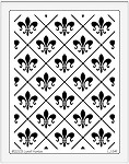 Dreamweaver Jumbo Metal Stencil - Fleur de lis Background