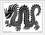 Dreamweaver Jumbo Brass Stencil - Dragon