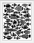 Dreamweaver Jumbo Metal Stencil - Fish Background