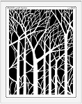 Dreamweaver Jumbo Brass Stencil - Bare Trees