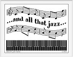 Dreamweaver Jumbo Brass Stencil - All That Jazz
