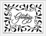Dreamweaver Jumbo Brass Stencil - Christmas Greeting