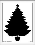 Dreamweaver Jumbo Brass Stencil - Open Xmas Tree