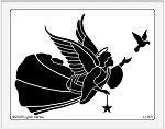 Dreamweaver Jumbo Brass Stencil - Angel with Dove