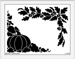 Dreamweaver Jumbo Brass Stencil - Fall Corners