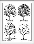 Dreamweaver Jumbo Metal Stencil - Four Seasons