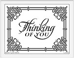 Dreamweaver Jumbo Metal Stencil - Large Thinking of You
