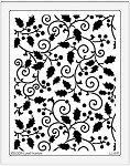Dreamweaver Jumbo Metal Stencil - Holly Swirls