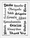 Dreamweaver Jumbo Brass Stencil - Thank You Collage