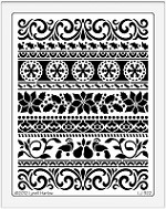 Dreamweaver Jumbo Brass Stencil - Christmas borders