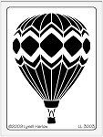 Dreamweaver Large Brass Stencil - Hot Air Balloon