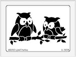 Dreamweaver Large Brass Stencil - Pair Owls