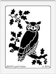 Dreamweaver Large Brass Stencil - Owl on Tree Limb