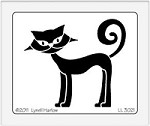 Dreamweaver Large Brass Stencil - Retro Standing Cat