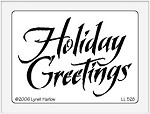 Dreamweaver Large Brass Stencil - Holiday Greetings
